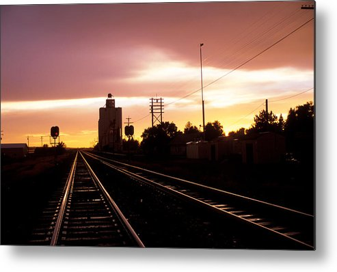 Potter Metal Print featuring the photograph Potter Tracks by Jerry McElroy