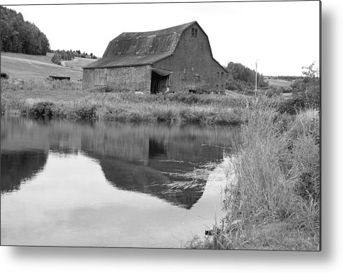 Barn Metal Print featuring the photograph Reflection by Lisa Hebert