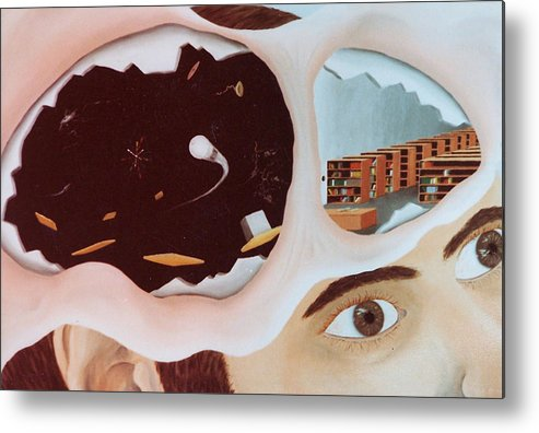 Surrealism Metal Print featuring the painting Revealing The Consicous And Subconsicous by Steven Welch