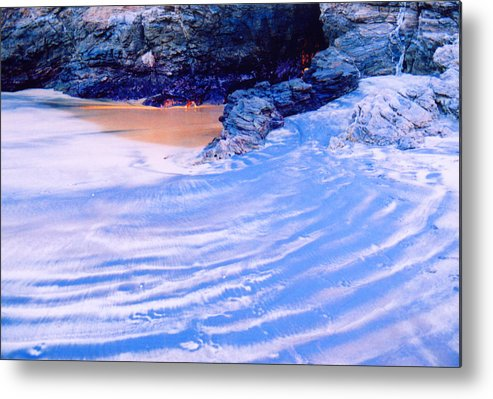 Sand Metal Print featuring the photograph Rocks And Sand 2 by Lyle Crump