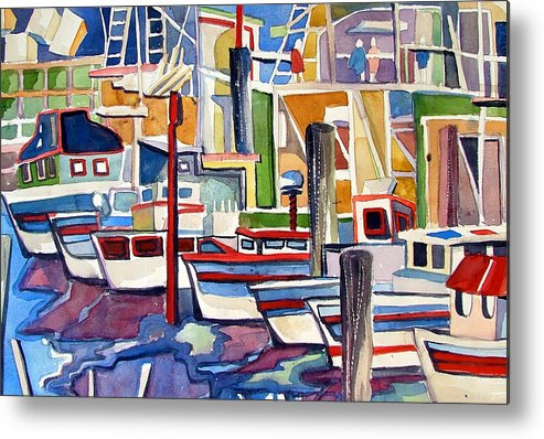 Marina Metal Print featuring the painting San Fransico Marina by Mindy Newman