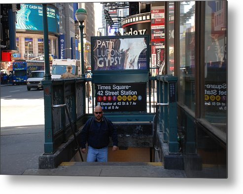 Subay Metal Print featuring the photograph Self At Subway Stairs by Rob Hans