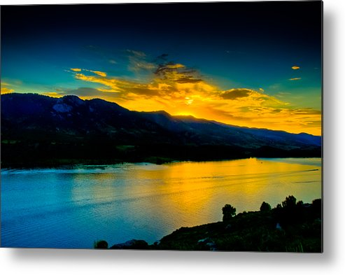Sunset Metal Print featuring the photograph Sunset At Horsetooth Reservoir by Harry Strharsky