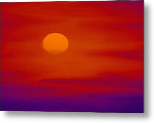 Sunset Metal Print featuring the painting Sunset by Karen Conine