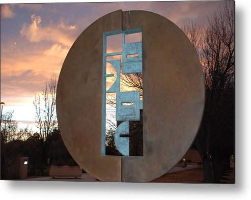 Pop Art Metal Print featuring the photograph Sunset Thru Art by Rob Hans