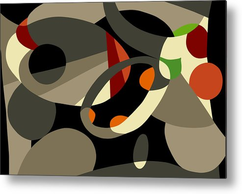 Abstract Prints Modern Prints Contemporary Print Metal Print featuring the painting Tan Bark by Ralf M Broughton