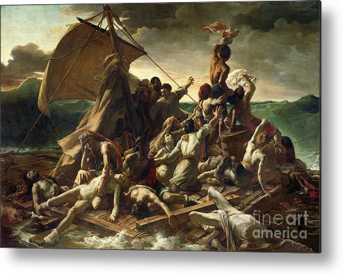 The Raft Of The Medusa Metal Print featuring the painting The Raft Of The Medusa by Theodore Gericault