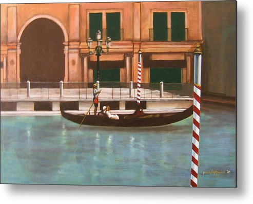 Smooth Sailing Metal Print featuring the painting Venetian Number Two by Howard Stroman