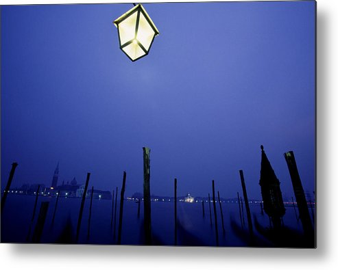 Blue Metal Print featuring the photograph Venice by Brad Rickerby