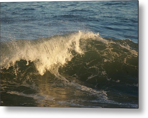 Ocean Metal Print featuring the photograph Wave by Lois Lepisto