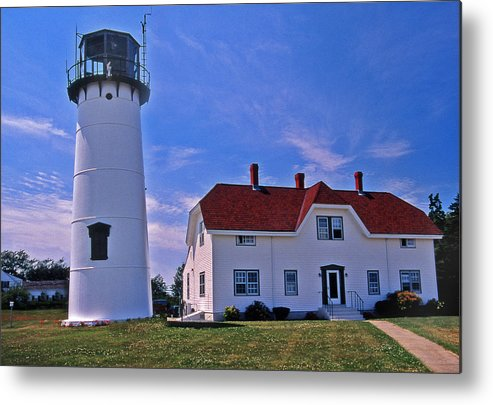 Lighthouses Metal Print featuring the photograph Chatham Light by Skip Willits