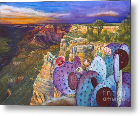 Canyon Metal Print featuring the painting South Rim Wonders by Jany Schindler