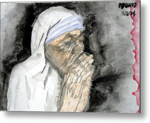 Mother Teresa Metal Print featuring the painting Miracle Mother by Rooma Mehra