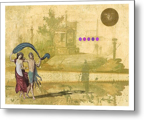 Roman Metal Print featuring the digital art Roman Holiday Iv by Alfred Degens