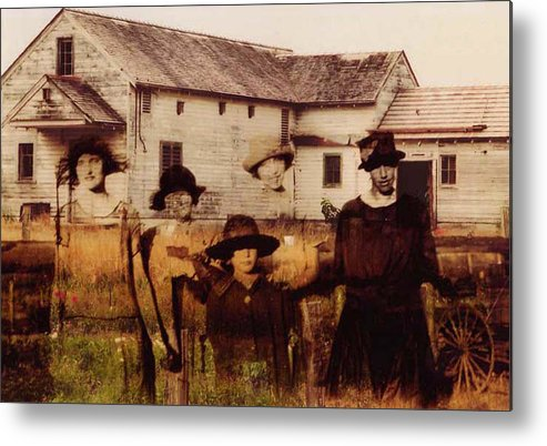 Farm Metal Print featuring the photograph The Woodbine Turned Red by Brande Barrett