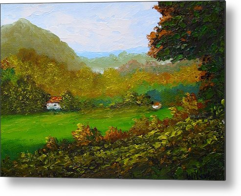Landscape Metal Print featuring the painting Autumn by Fred Wilson