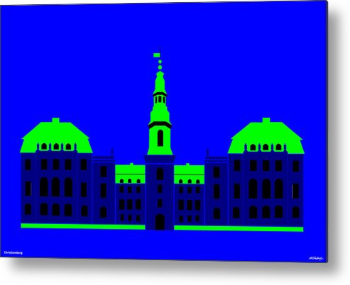 Metal Print featuring the painting Christiansborg Palace by Asbjorn Lonvig