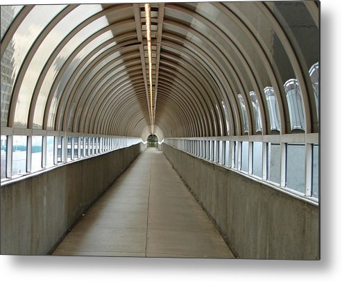 Tunnels Metal Print featuring the photograph Circular Tunnel by Cheryl Viar