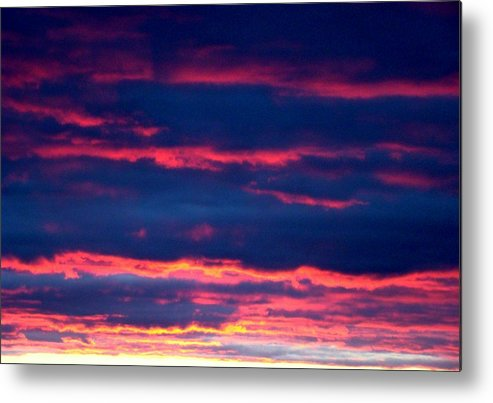 Sky Metal Print featuring the photograph Cold Front Sunset One by Ana Villaronga