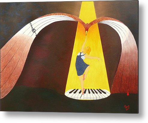 Dance Metal Print featuring the painting Dancer by Greg Gierlowski