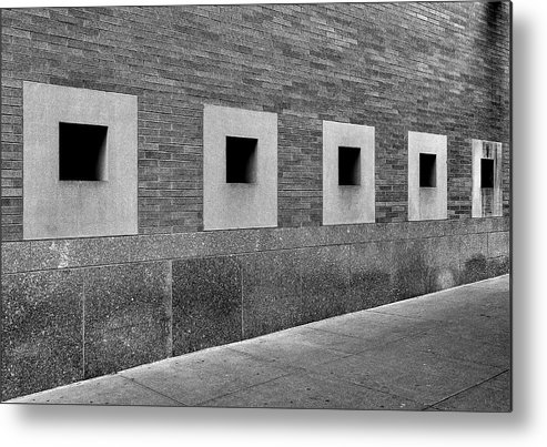 Bricks Metal Print featuring the photograph Detail Mt. Sinai Hospital Nyc by Robert Ullmann