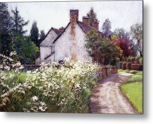 England Metal Print featuring the painting England Cottage by L Diane Johnson