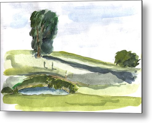 Kevin Callahan Metal Print featuring the painting English Countryside by Kevin Callahan