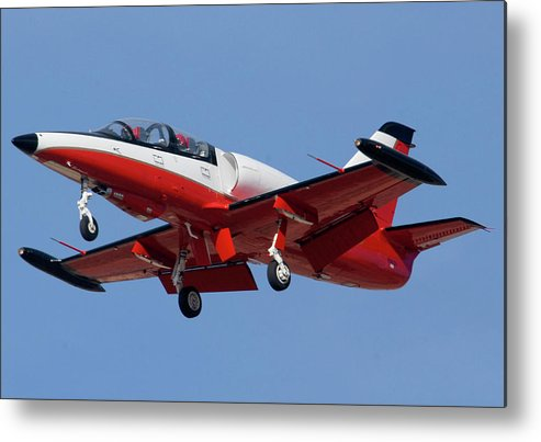 Airplane Metal Print featuring the photograph High Speed Promotions Aerovodochody L-39 Albatross N391za Mesa Gateway Airport Arizona March 11 2011 by Brian Lockett