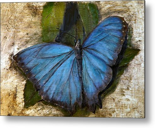 Butterfly Metal Print featuring the painting Jewel Of The Garden by Merle Blair