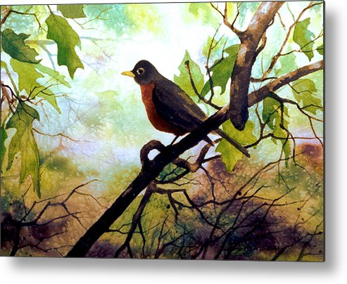 Wild Life Metal Print featuring the painting Just Ate And Cooling Off by Brooke Lyman