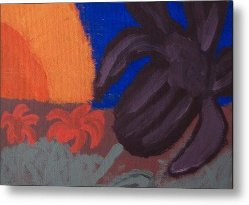 Lilly Metal Print featuring the painting Lillies In The Sunset by Melissa Parks