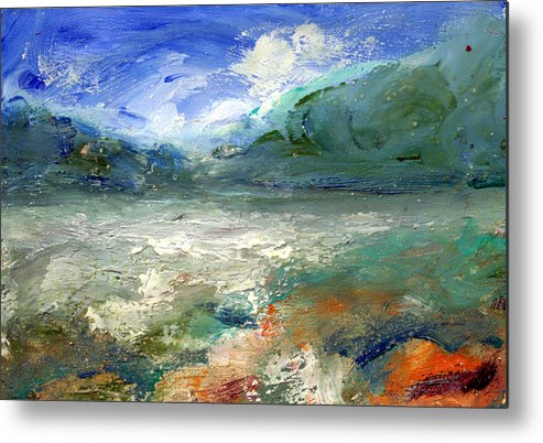 Lake Metal Print featuring the painting Lombard Lake by Mario Zampedroni