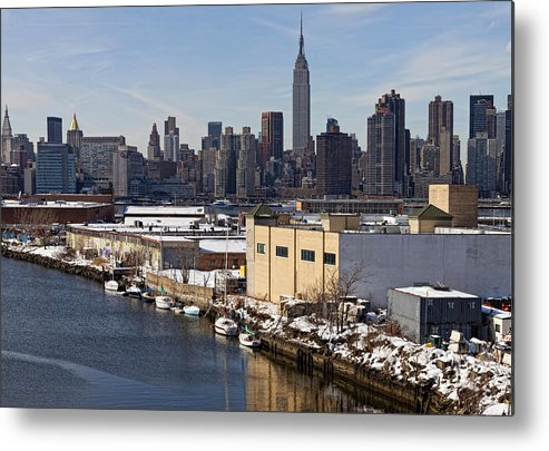 Skyline Metal Print featuring the photograph Manhattan From Greenpoint In Winter by Robert Ullmann