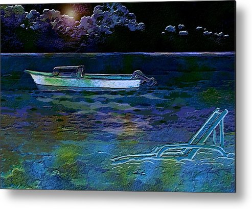 Shore Metal Print featuring the painting Moonlight Magic by Mimo Krouzian