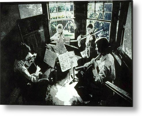 String Quartet Metal Print featuring the mixed media Music As Light by Randy Sprout