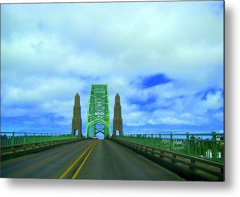 Newport Oregon Bridge Metal Print featuring the photograph Newport Oregon Bridge by Lisa Rose Musselwhite