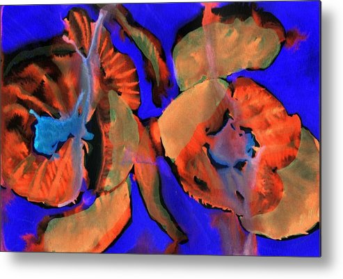 Tulips Metal Print featuring the painting Red Tulips by Jennifer Choate