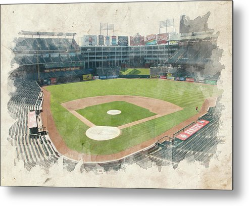 Texas Metal Print featuring the photograph The Ballpark by Ricky Barnard