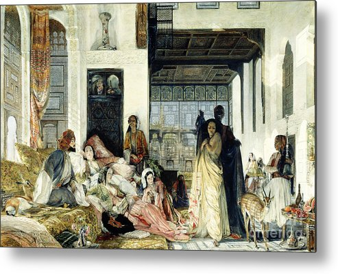 The Metal Print featuring the painting The Harem by John Frederick Lewis