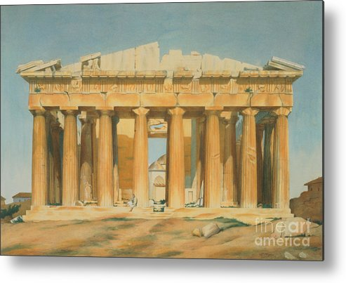 The Metal Print featuring the painting The Parthenon by Louis Dupre