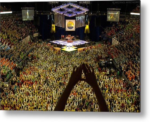 Thon Metal Print featuring the photograph Thon Diamonds Up by Michael Misciagno