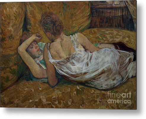 Two Metal Print featuring the painting Two Friends by Henri de Toulouse-Lautrec