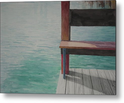 Waterscape Metal Print featuring the drawing Water15 by Jeffrey Babine