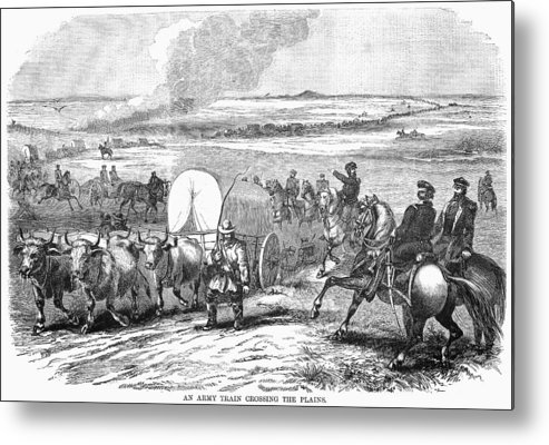 1858 Metal Print featuring the photograph Westward Expansion, 1858 by Granger