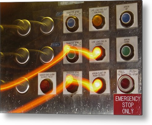 Emergency Stop Metal Print featuring the photograph Who Is In Control by Tracey Levine