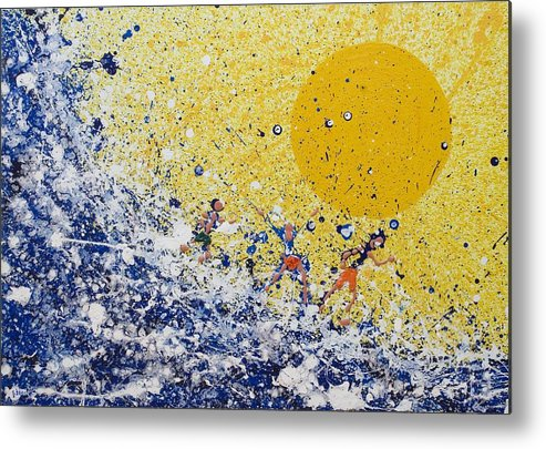 Water Metal Print featuring the painting The Lucky Country by Steven Dean