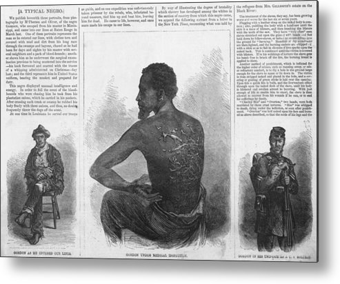 History Metal Print featuring the photograph An African American Runaway Slave Named by Everett