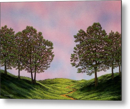 Landscape Metal Print featuring the painting Colors Of Dawn by Frank Wilson
