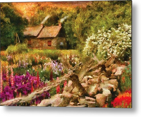 Savad Metal Print featuring the photograph Cottage - There's No Place Like Home by Mike Savad