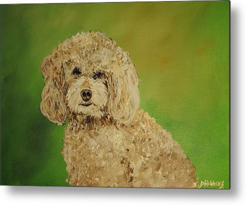 Poodle Metal Print featuring the painting Fancy Girl by James Higgins